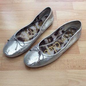 Sam Edelman Ballet Flats Metallic Silver 10M